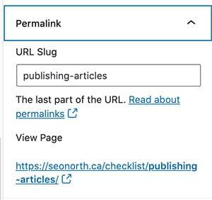 URL Slugs