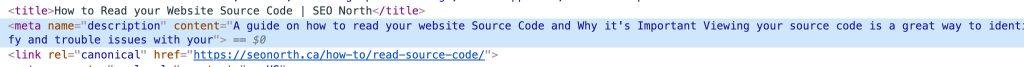 Meta Description Code Example