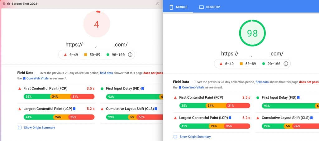 PageSpeed Optimization for clients