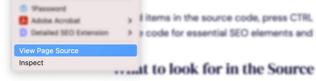 Right-Click to View Page Source in Safari
