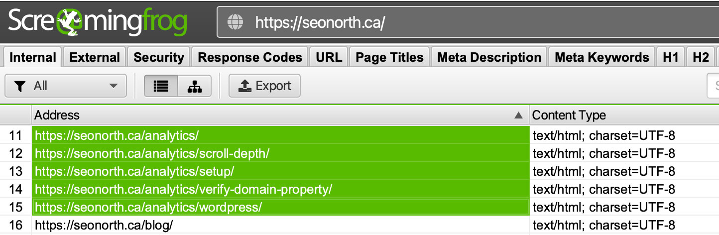 highlight URLs