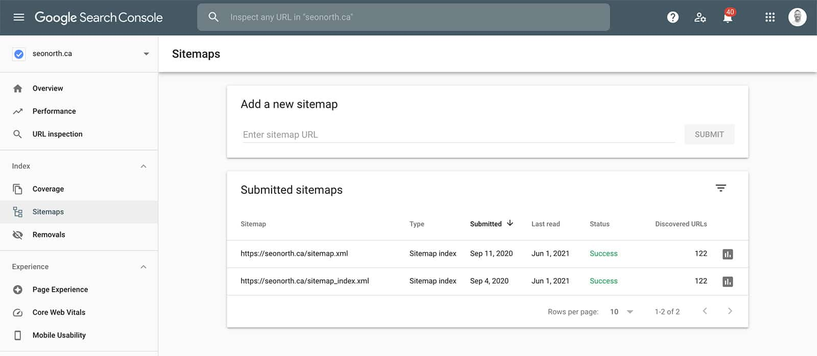 Submit your sitemap to GSC