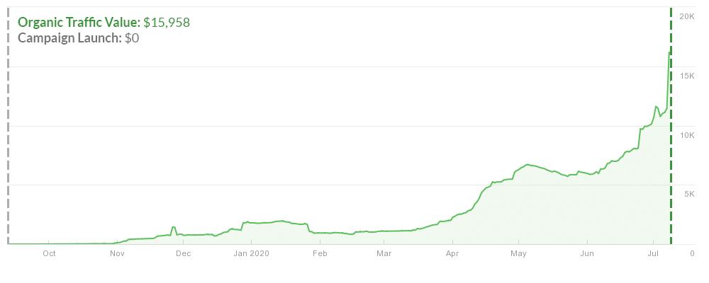 organic traffic value